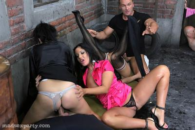 Angelica Heart gets banged hardcore at the sex party with her friends