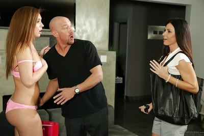 Hot threesome with reality babes India Summer and Maddy OReilly