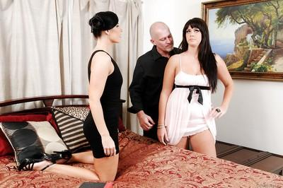 MILFs India Summer and Alison Tyler ride cock and sit on man