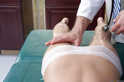 Blonde Madison Scott was drilled hard in the massage cabinet