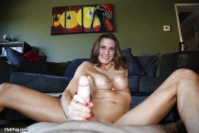 Milf mom with big tits does a first class blowjob to her man