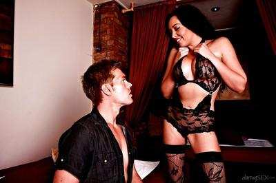 Stockings model Rio Lee is showing the best blowjob in the guys life