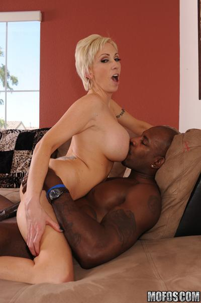 MILF babe with big hooters Kasey Grant has interracial hot sex