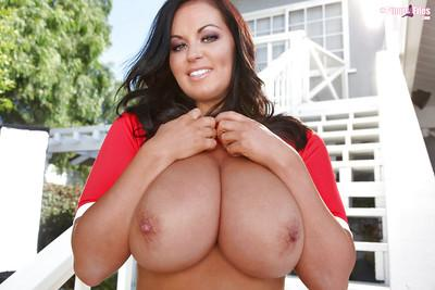 Magnificent Latina slut Sarah Nicola Randall makes her huge tits bounce