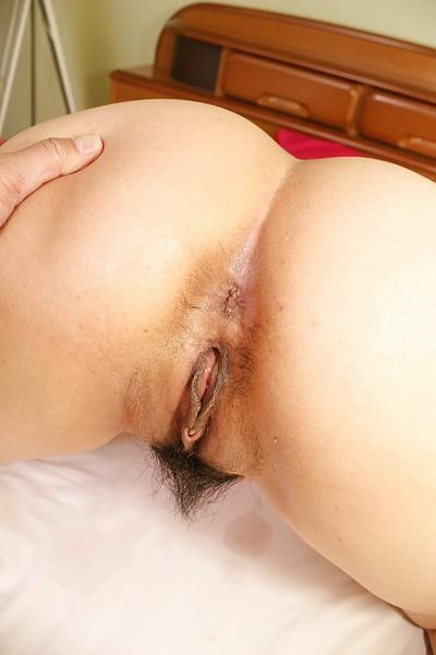 Curvy asian MILF Kumiko Yasue gobbles a hard dick and gets shafted hard