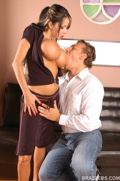 Hot MILF with luxurious tits Danielle Derek got drilled hardcore