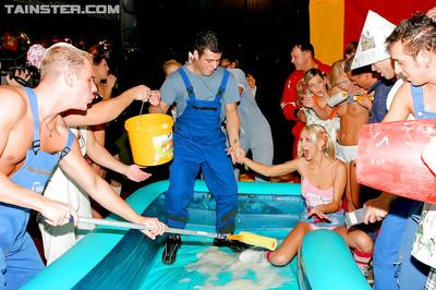Bibi Fox & Virus Vellons have some fun at the wild groupsex foam party