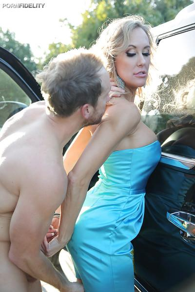 Close up ass pounding scene featuring milf beauty Brandi Love
