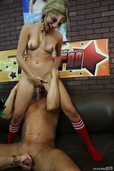 Groupsex action with sweet girls Jennifer White, Lia Lor and Nikki Sexx