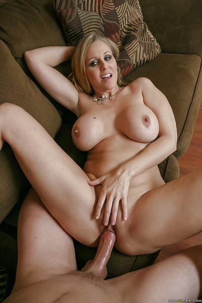 Blonde wife Julia Ann riding large cock reverse cowgirl style