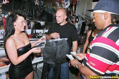 Naughty MILF in black minidress Savannah Paige pleasuring a stiff rod