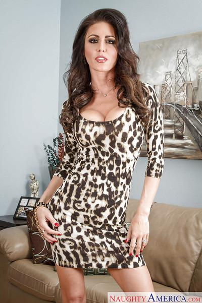 Sexy milf Jessica Jaymes is playing with her lovely hot pussy
