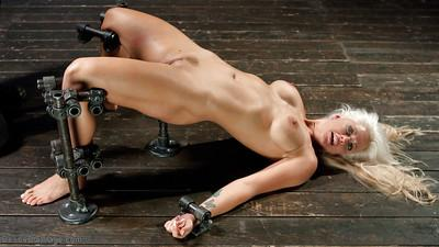 Older blonde MILF Holly Heart tortured and pegged before hot wax punishment