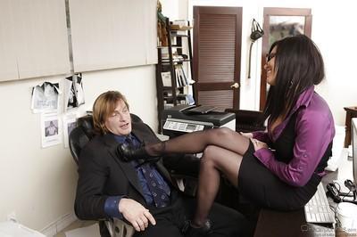Horny latina Eva Angelina gets her pussy licked and slammed hardcore
