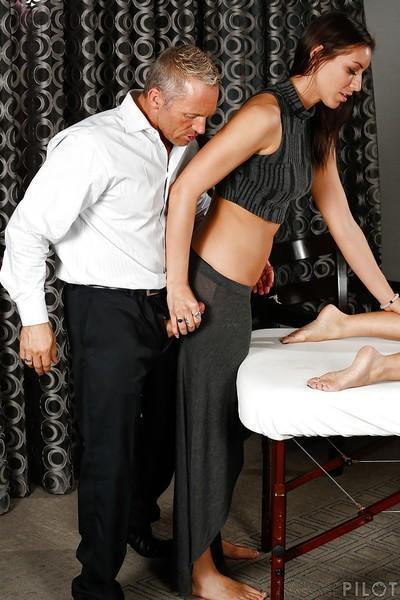 Tall MILF Janet Mason enlists Rilynn Rae to help jerk off a dick