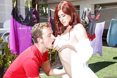 Outdoor scenes with a gentle redhead milf named Tiffany Mynx