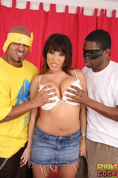 Asian MILF Ava Devine has double penetration sex with monster cocks