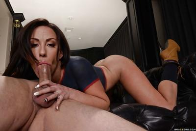 Brunette wife Jennifer White having her cunt ate out from behind