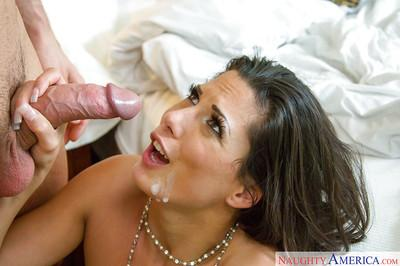 Brunette Latina Alexa Tomas was drilled hard in her tight muff