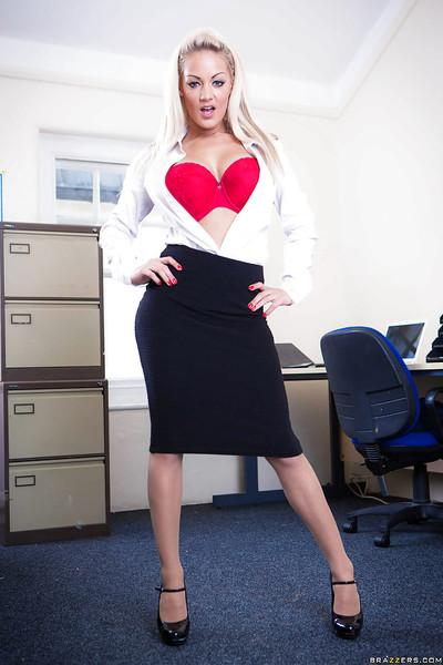 Sweet working lady Loulou is undressing and playing with her boobs