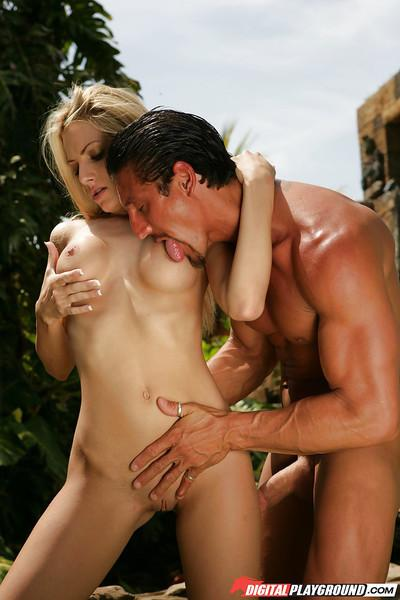 Big-tit blonde Teagan Presley was drilled pretty hard in her snatch