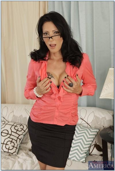 MILF teacher Zoey Holloway takes her clothes off to feel her body
