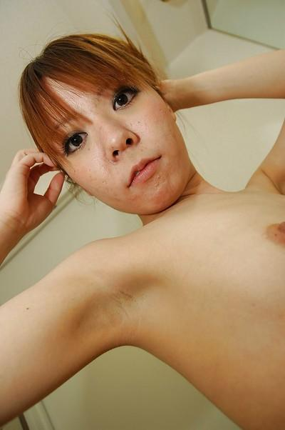asian MILF with tiny titties Eri Sakaguchi taking shower