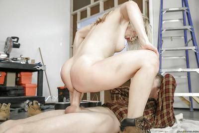 Beautiful blonde chick Ashley Fires getting big wet butt stuffed with cock