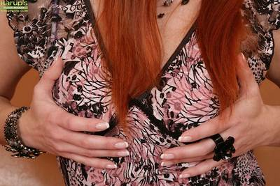 Redhead milf Genny poking and fingering that tight pink pussy