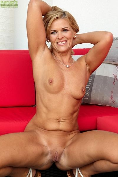 Undressing scene with an astounding milf cutie with tiny tits Carrie