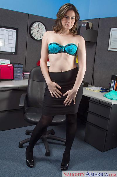 Office milf Addie Juniper shows her gorgeous-looking naked shape
