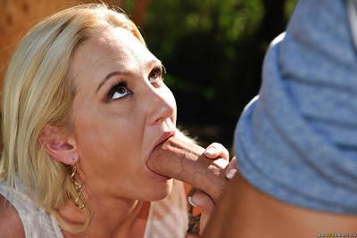 Horny housewife Alexis Malone gets seduced by younger man in the woods