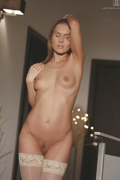 Enjoyable European maiden Sabrina Moore is full of sexual energy