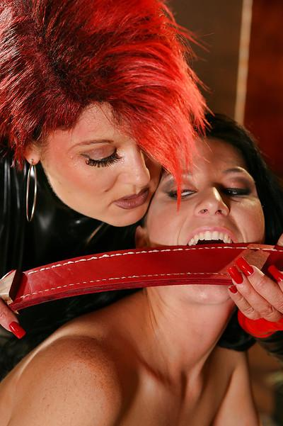 Lusty babes on high heels Aradia & Ariel X are into kinky lesbian action