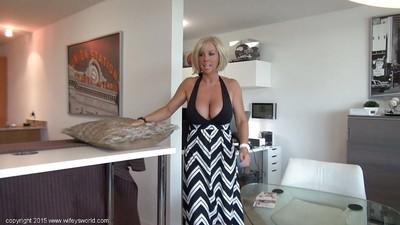Big tit MILF Sandra Otterson milking cock cum at the gloryhole