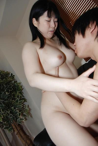 Chubby Asian milf Shinobu Kawahara has a hardcore fling with her stud