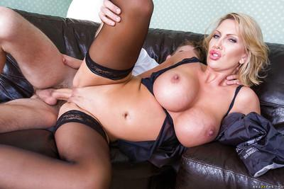 Leigh Darby has her milf pussy fucked and her big tits teased