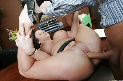 Office MILF with massive boobs Moxxie Maddron fucked and facialized