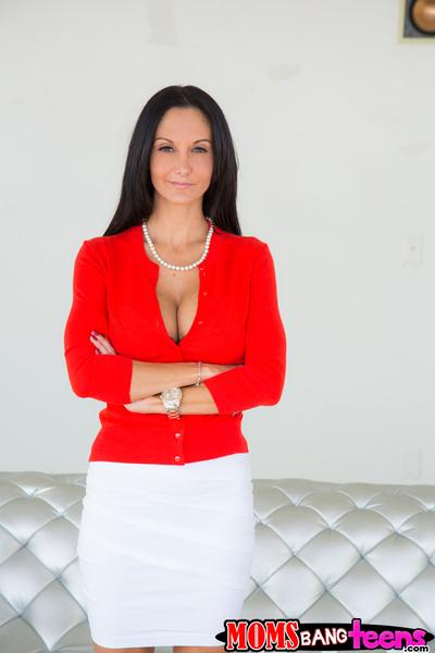 Skillful milf Ava Addams slowly shows off her big natural boobies