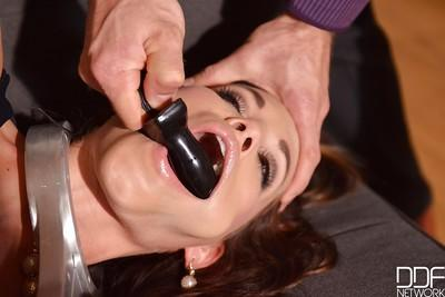 Submissive Euro slut Satin Bloom submits to master
