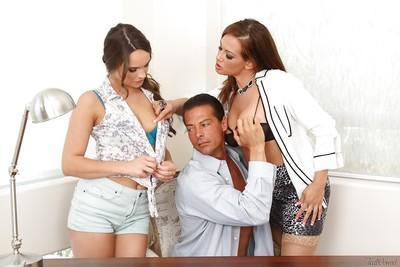 Threesome sex scene featuring milf pornstar Tory Lane and Teal Conrad
