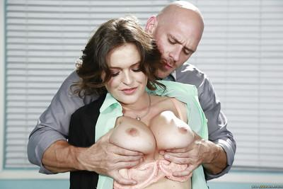Brunette Krissy Lynn was drilled by long-dicked Johnny Sins!