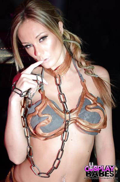 Slender beauty Elizabeth Bally presents her amazing big boobies