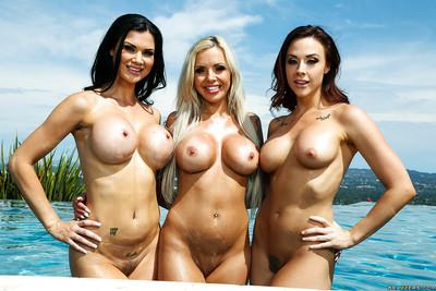 Busy MILFs Chanel Preston, Jasmine Jae and Nina Elle posing together