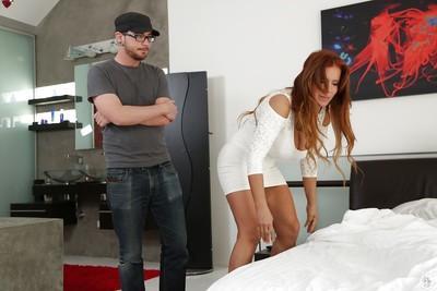 Cute cougar latina Nicky giving a hardcore deep blowjob