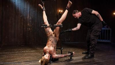 Top rated blond MILF Kleio Valentien tit tortured and flogged to submission