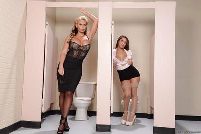 Amazing busty lesbians Abella Danger and Phoenix Marie cumming hard