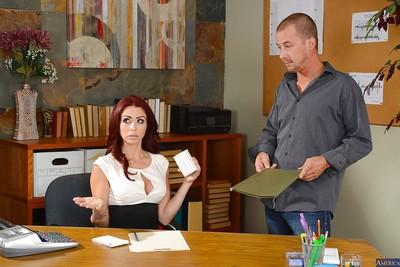 Big tits office milf Monique Alexander has her pussy licked and fucked