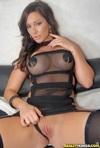 Big tit brunette slut Destiny showing her awesome body and ass
