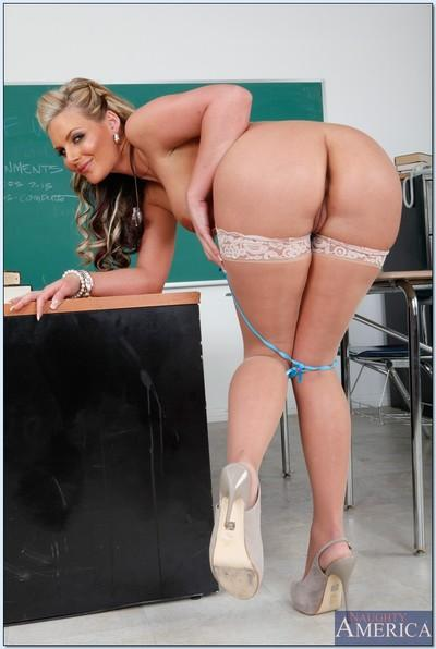 Phoenix Marie is a hot teacher babe and also a busty MILF.